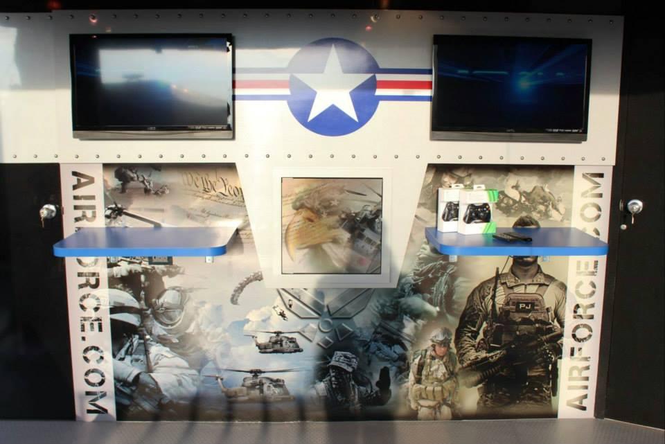 Custom Air Force Recruiting Trailer