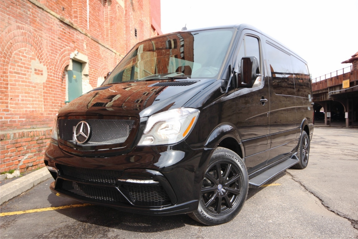Blacked Out Mercedes Sprinter Van