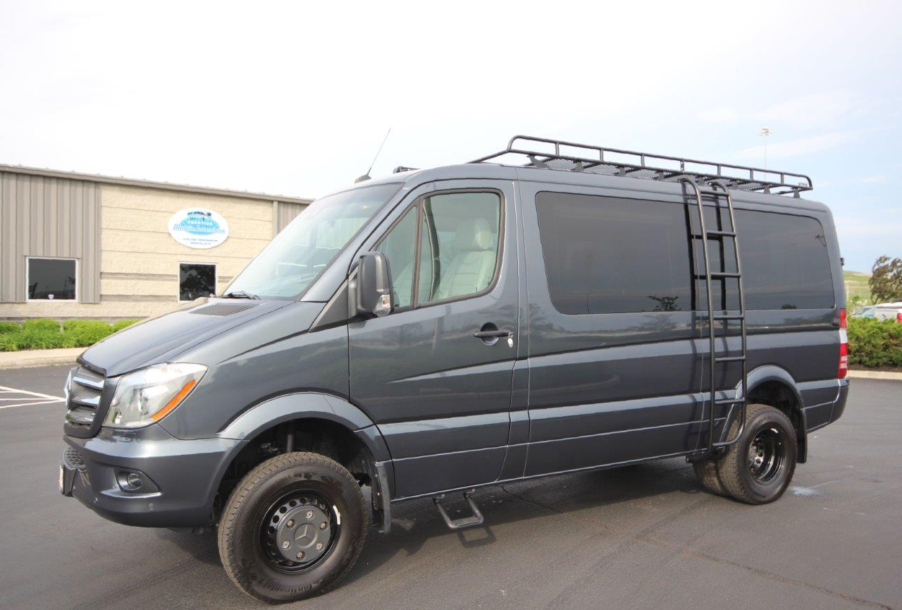 Ladder Roof Rack >> Rugged 4x4 Low-Roof Sprinter