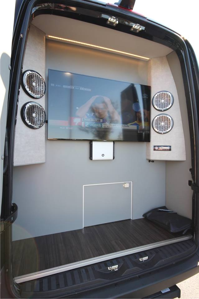 Diesel Generator Room Design: Luxury Sprinter RV For Tailgating & Camping