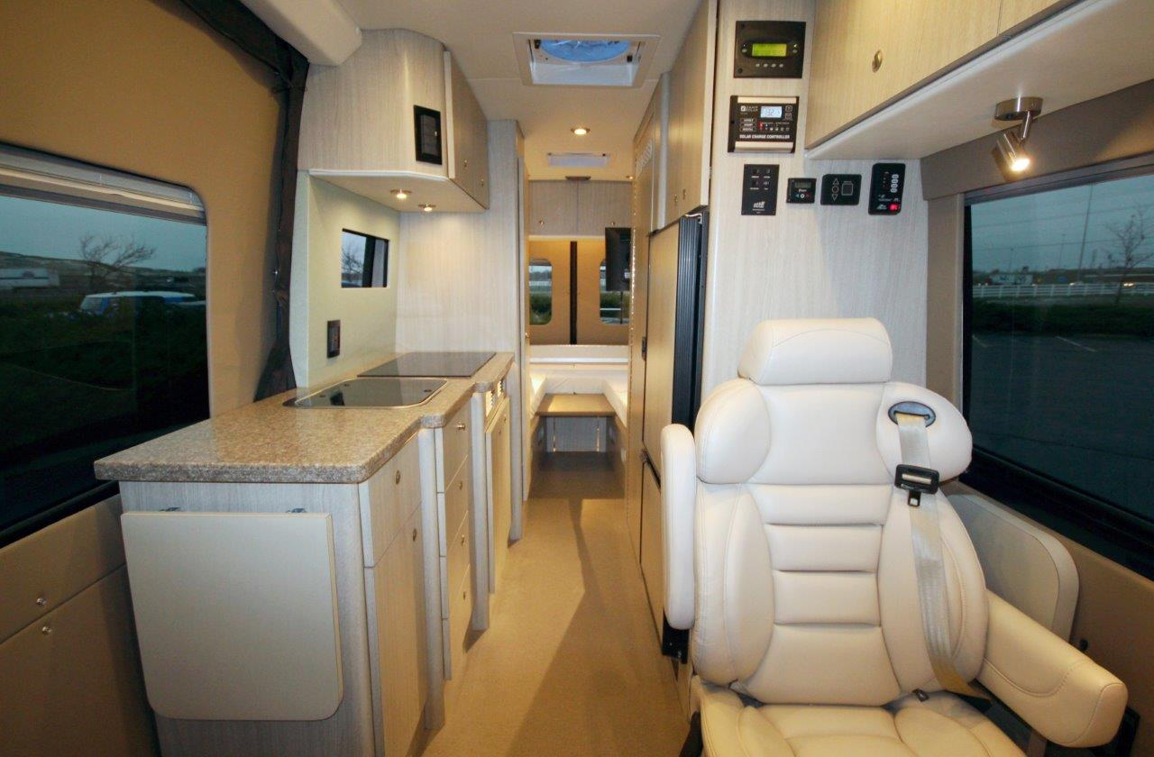 sprinter mercedes conversion custom 4x4 creativemobileinteriors sliding luxury sleeper rv exterior kitchen