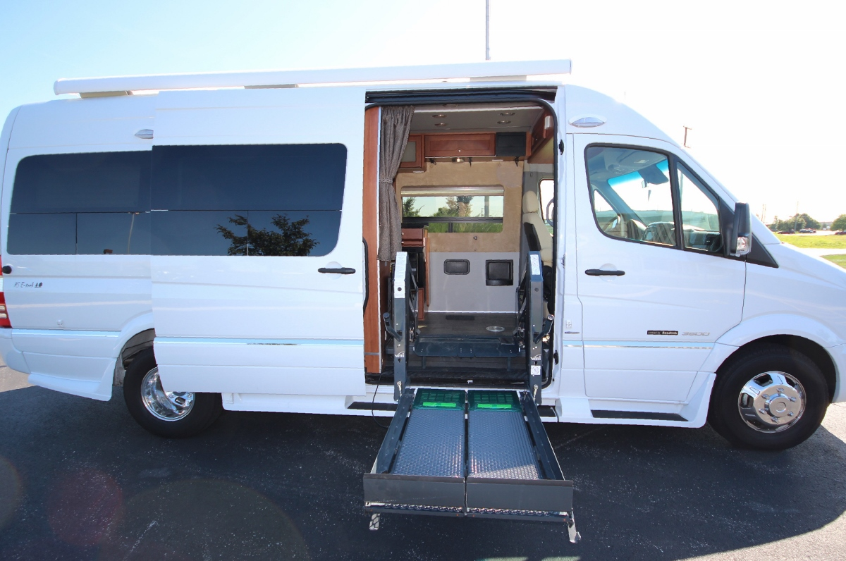 Roadtrek rv handicap retrofit for Completely wheelchair accessible luxury house for sale