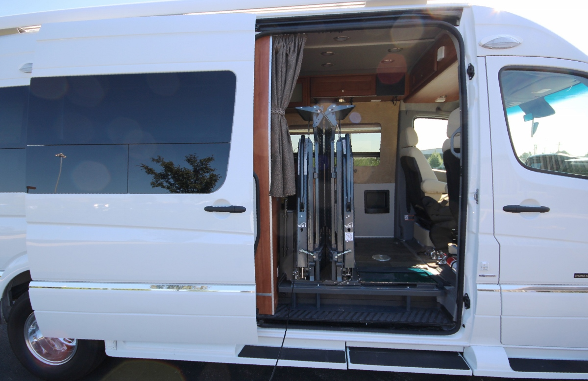 Roadtrek rv handicap retrofit for Handicap accessible mobile homes for sale