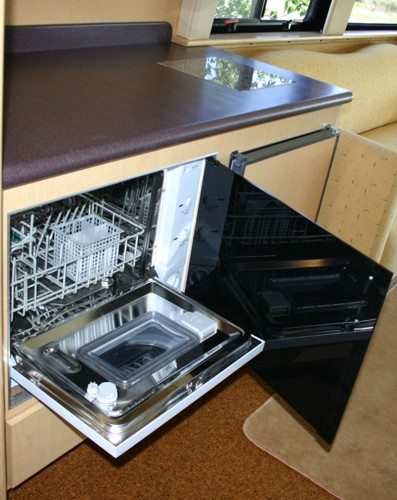 Countertop Dishwasher With Heater : Custom RV Motor Home Tailgater