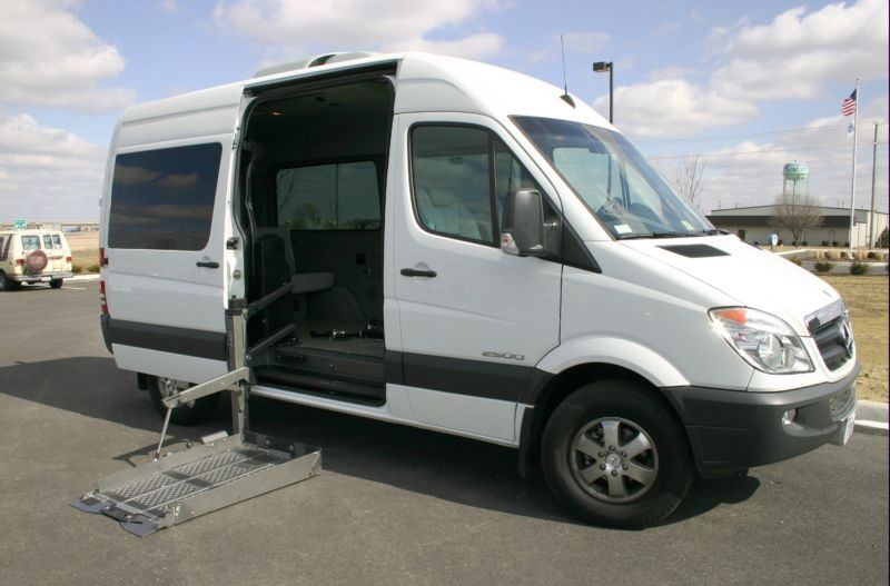 Handicap equipped family transport sprinter for Completely wheelchair accessible luxury house for sale