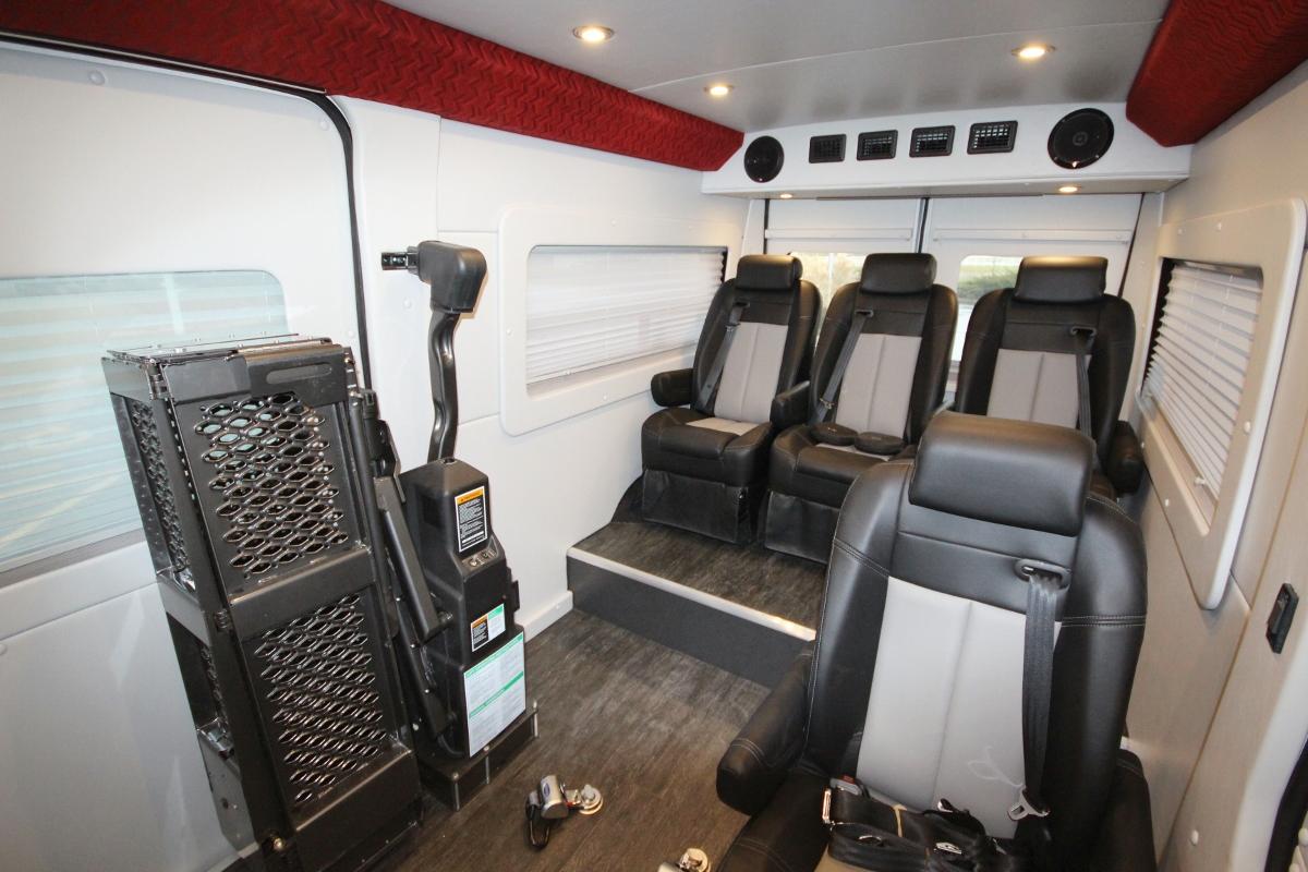 Dodge Promaster Family Van With Side Door Lift