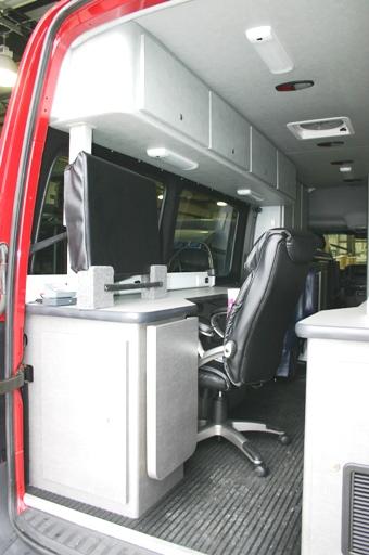 Fire Department Sprinter Command Center