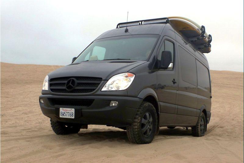 Lastest Mercedes Benz Sprinter 4x4 Diesel Van Off Road Wheel In Air Mercedes