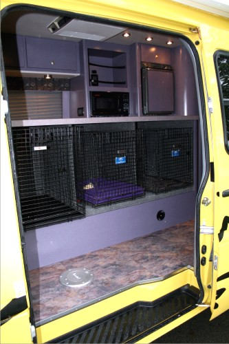 Custom Van Conversion Sprinter Dog Transporter