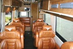 Texas Longhorn Custom Tailgating Sprinter Van